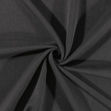 Tissu Gabardine de viscose uni Gris Anthracite - Par 10 cm