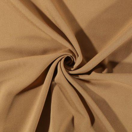 Tissu Gabardine de viscose uni Moutarde - Par 10 cm