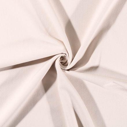 Tissu Gabardine de viscose uni Beige Sable - Par 10 cm
