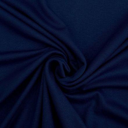 Tissu Jersey Viscose uni Bleu marine x10cm