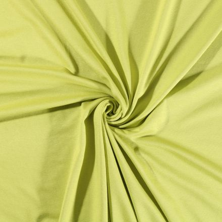 Tissu Jersey Viscose uni Vert chartreuse x10cm