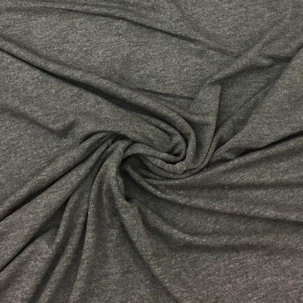 Tissu Jersey Viscose Gris chiné anthracite - Par 10 cm