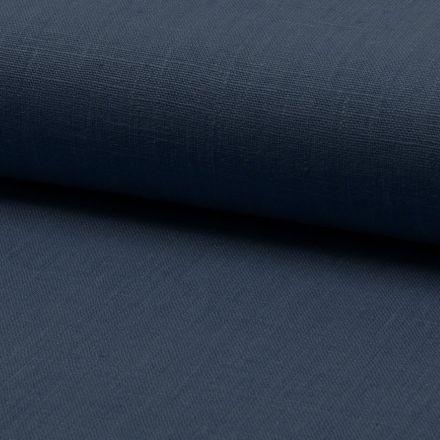 Tissu Lin Navy x10cm