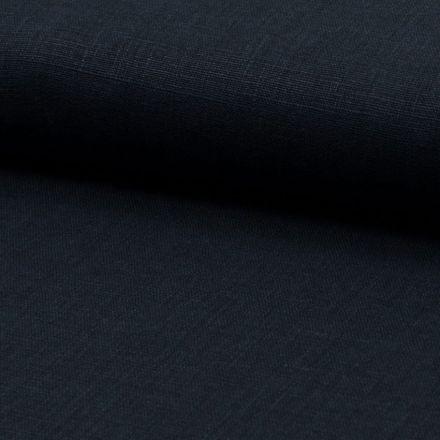 Tissu Lin Bleu marine x10cm