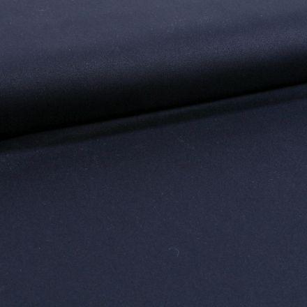 Tissu Coton Sergé extensible Bleu marine - Par 10 cm