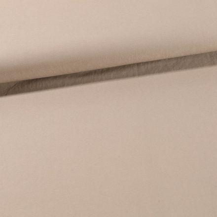 Tissu Coton Sergé extensible Beige - Par 10 cm