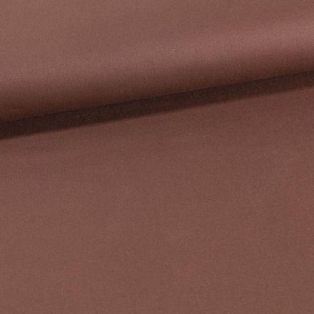Tissu Coton Sergé extensible Marron - Par 10 cm