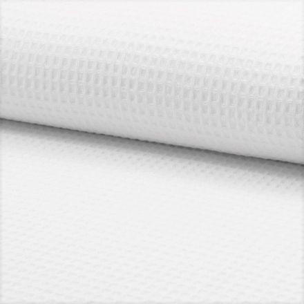 Tissu Nid d'abeille Blanc x10cm