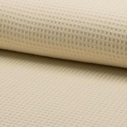 Tissu Nid d'abeille Beige sable x10cm