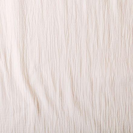 Tissu Double gaze de coton uni Ecru  - Par 10 cm