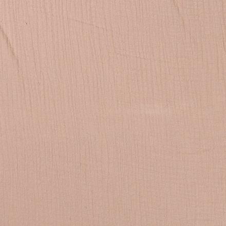 Tissu Double gaze de coton uni Beige - Par 10 cm