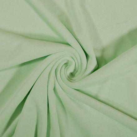 Tissu Jersey Velours tout doux Menthe à l'eau x10cm