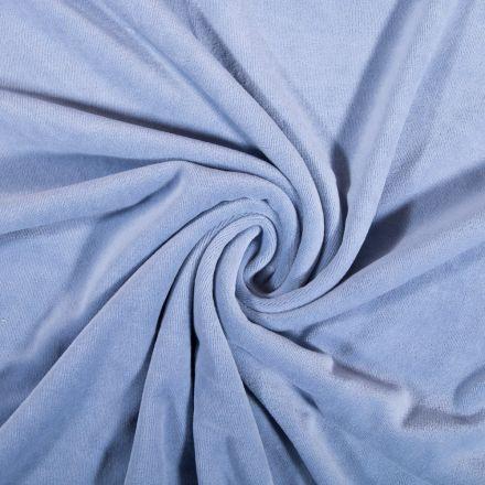 Tissu Jersey Velours tout doux Bleu pervenche x10cm