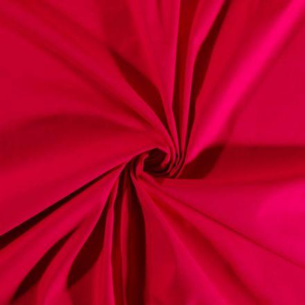 Tissu Coton Satiné extensible Rose - Par 10 cm