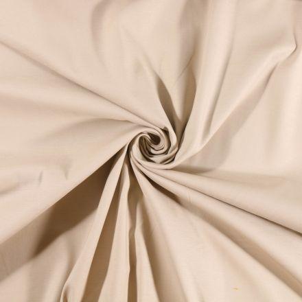 Tissu Coton Satiné extensible Ficelle - Par 10 cm
