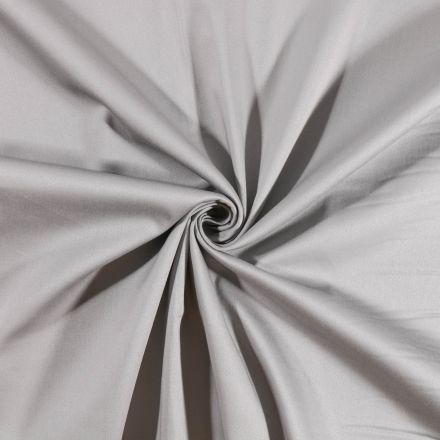 Tissu Coton Satiné extensible Gris doux - Par 10 cm