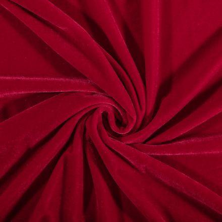 Tissu Velours jersey épais Rouge - Par 10 cm