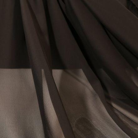 Tissu Mousseline uni Noir - Par 10 cm