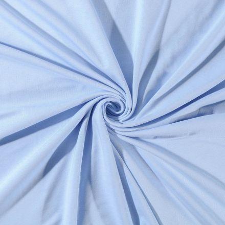 Tissu Jersey Coton uni Bleu ciel - Par 10 cm