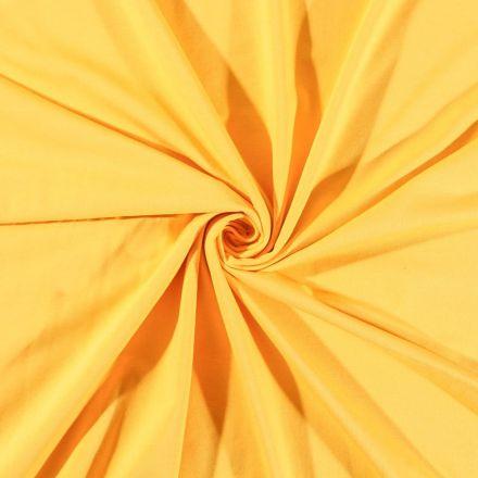 Tissu Jersey Coton uni Jaune - Par 10 cm