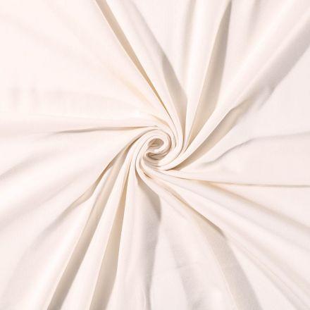 Tissu Jersey Coton uni Ecru - Par 10 cm