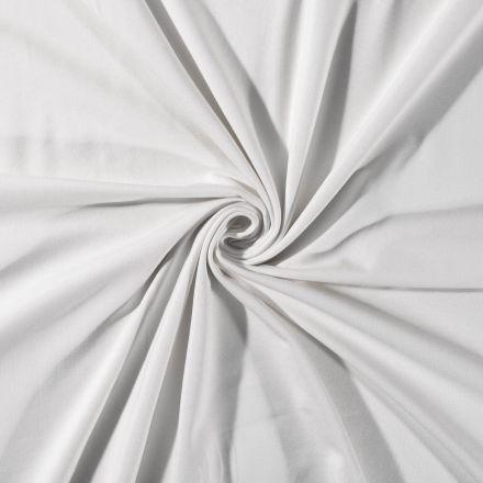 Tissu Jersey Coton uni Gris Clair - Par 10 cm
