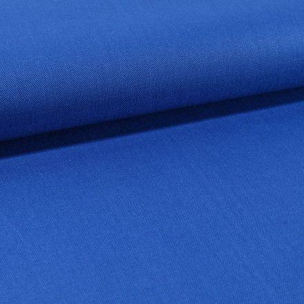Tissu Toile Coton Canvas uni Bleu Roi - Par 10 cm