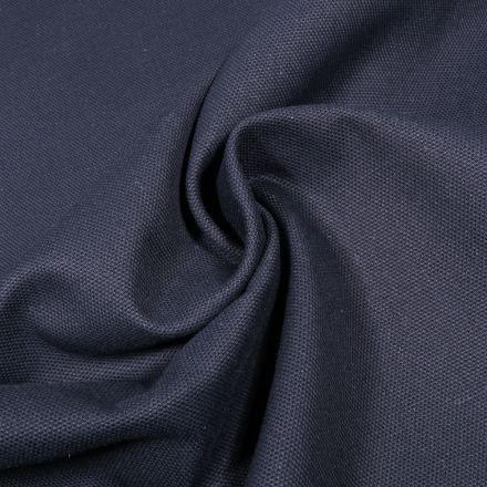 Tissu Toile Coton Canvas uni Bleu marine