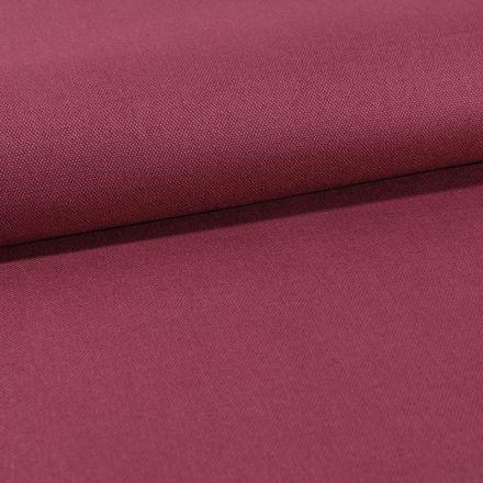 Tissu Toile Coton Canvas uni Lie de vin - Par 10 cm