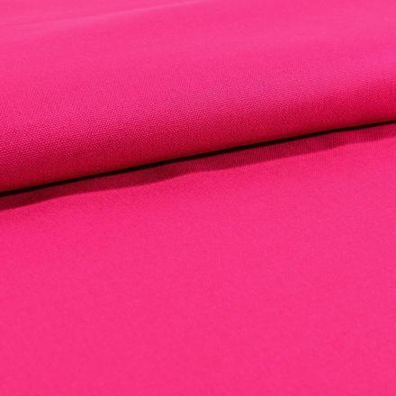 Tissu Toile Coton Canvas uni Fuchsia - Par 10 cm