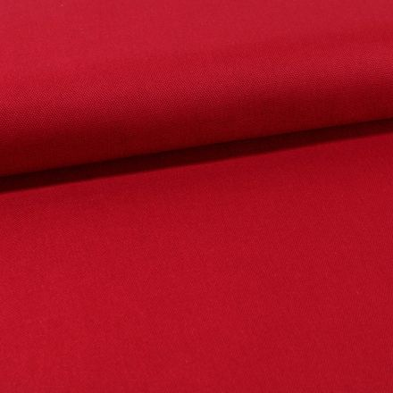 Tissu Toile Coton Canvas uni Rouge bordeaux - Par 10 cm