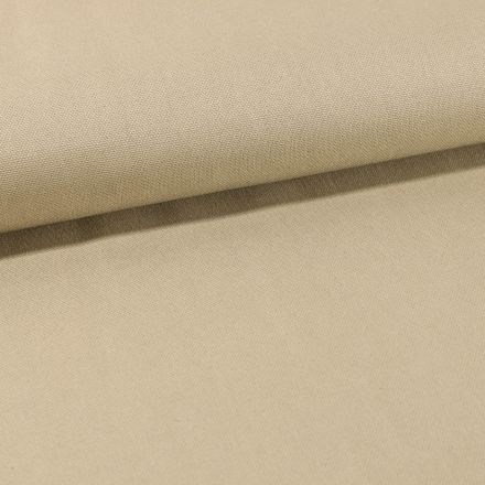 Tissu Toile Coton Canvas uni Naturel - Par 10 cm