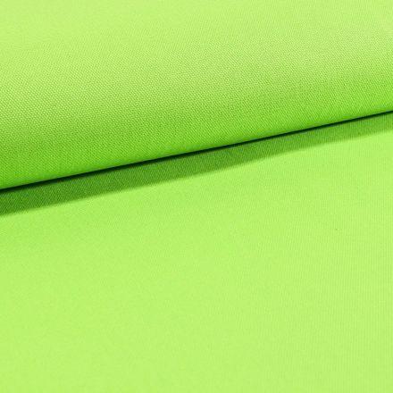 Tissu Toile Coton Canvas uni Vert Pomme - Par 10 cm