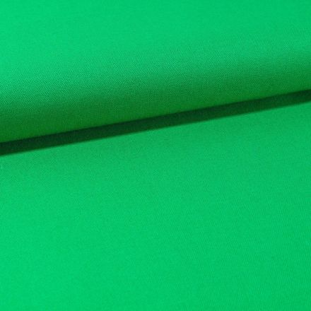 Tissu Toile Coton Canvas uni Vert Gazon - Par 10 cm