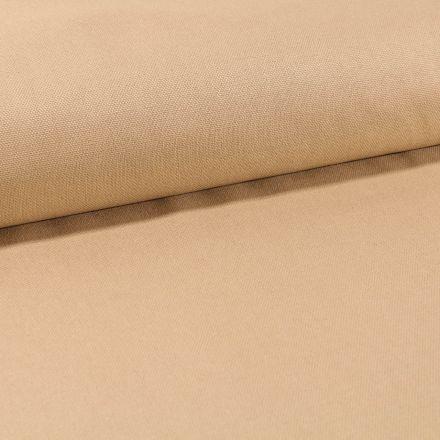 Tissu Toile Coton Canvas uni Jaune Sable - Par 10 cm