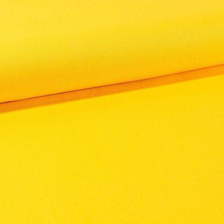 Tissu Toile Coton Canvas uni Jaune - Par 10 cm