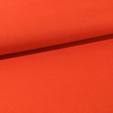Tissu Toile Coton Canvas uni Brique - Par 10 cm