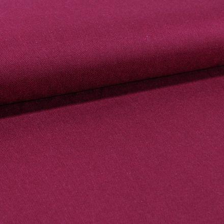 Tissu Toile Coton Canvas uni Pourpre - Par 10 cm