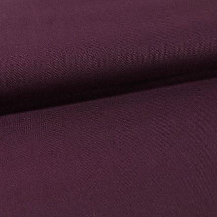 Tissu Toile Coton Canvas uni Prune foncé - Par 10 cm