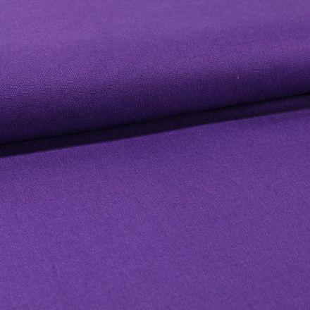 Tissu Toile Coton Canvas uni Violet - Par 10 cm