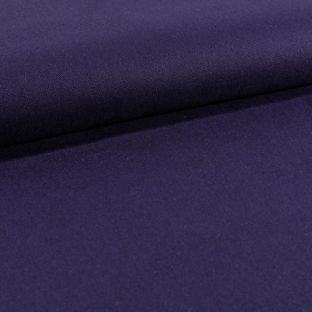 Tissu Toile Coton Canvas uni Violet Foncé - Par 10 cm
