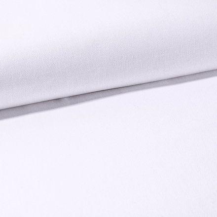 Tissu Toile Coton Canvas uni Blanc - Par 10 cm