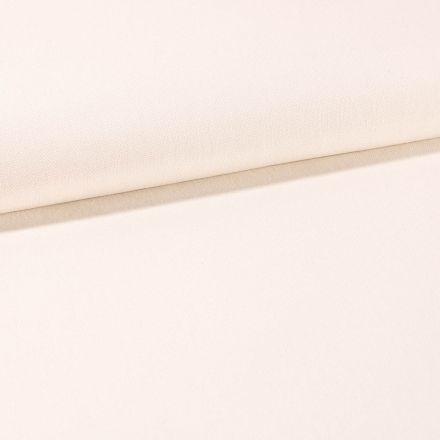 Tissu Toile Coton Canvas uni Ecru - Par 10 cm