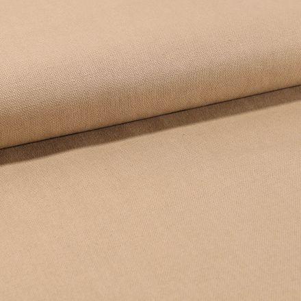 Tissu Toile Coton Canvas uni Camel - Par 10 cm