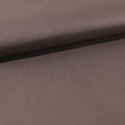 Tissu Toile Coton Canvas uni Taupe Foncé - Par 10 cm