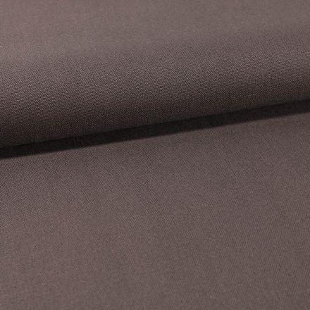 Tissu Toile Coton Canvas uni Gris Foncé - Par 10 cm