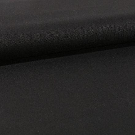 Tissu Toile Coton Canvas uni Noir - Par 10 cm