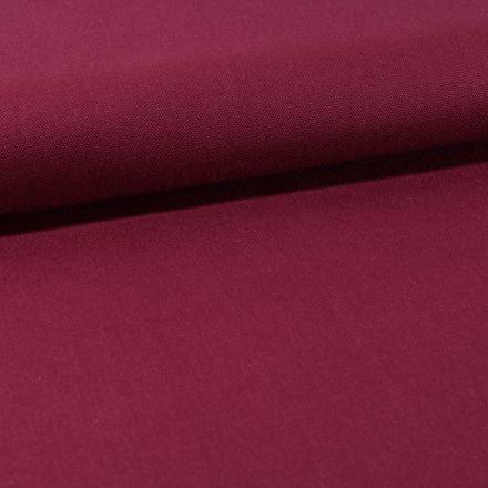 Tissu Toile Coton Canvas uni Prune - Par 10 cm