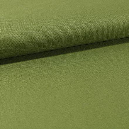 Tissu Toile Coton Canvas uni Vert Avocat - Par 10 cm
