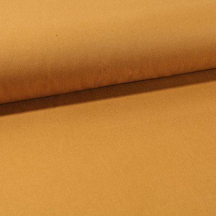 Tissu Toile Coton Canvas uni Jaune Moutarde - Par 10 cm
